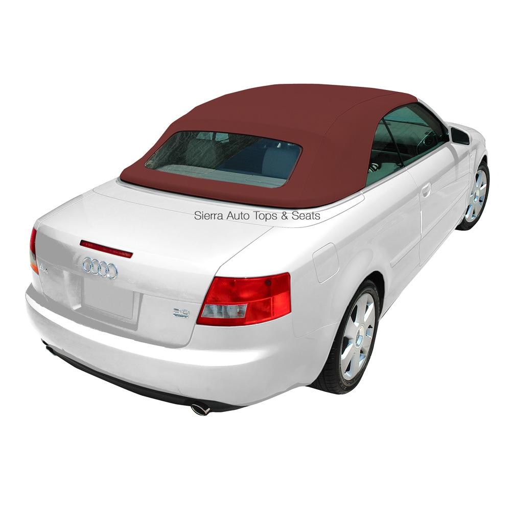 audi a4 2003 2009 convertible top glass window bordeaux rh autotopsdirect com 2003 Audi A4 Cabriolet Specs Audi A4 1.8T Cabriolet