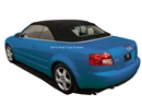 Audi A4 Black Twillfast Convertible Replacement Top, 2003-2009 | Auto Tops Direct
