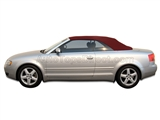 2003-2009 Audi A4 & S4 Convertible Soft Top in Burgundy Stayfast Canvas