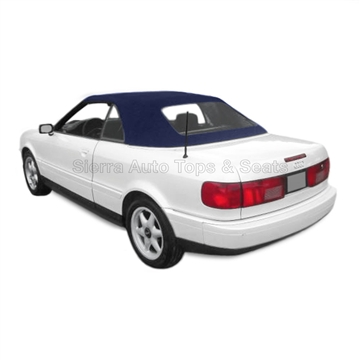 Audi Cabrio Convertible Top w/ Plastic Window - Blue Twillfast II