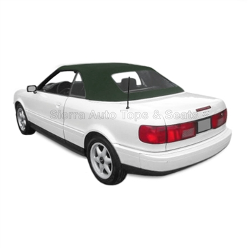 Audi Cabrio Convertible Top w/ Plastic Window - Green Twillfast II
