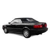 Audi Cabrio Convertible Top w/ Plastic Window - Black Grain Vinyl