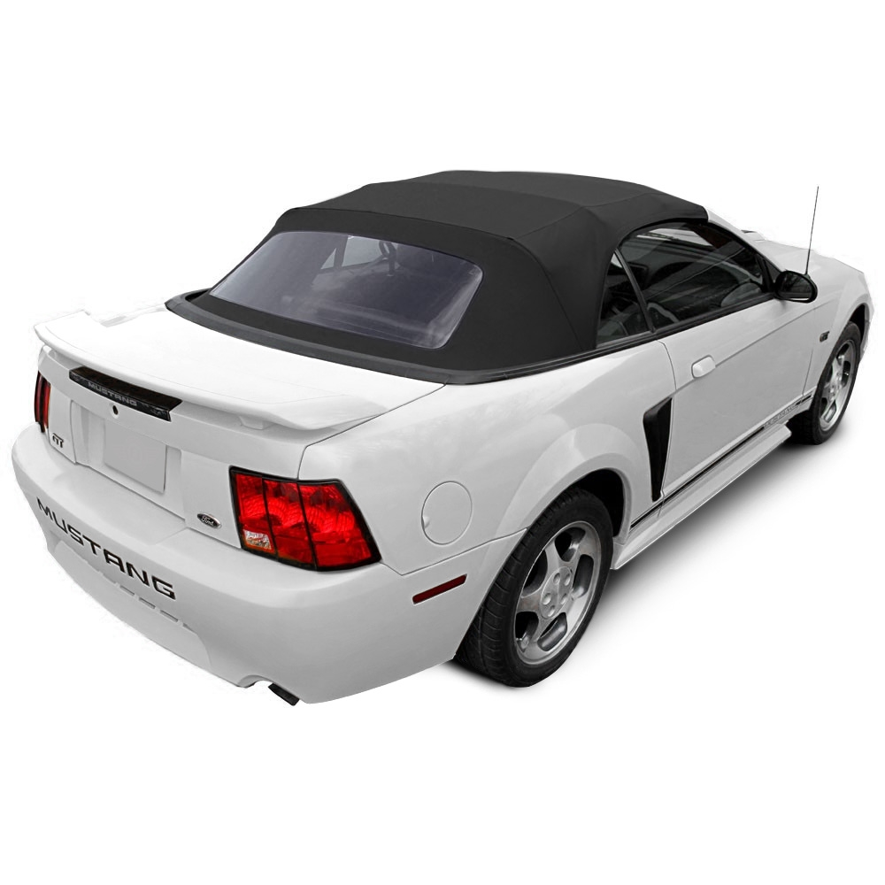 Mustang convertible top 94 04 all models black sailcloth with plastic window