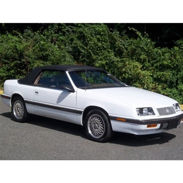 1987-1995 Chrysler Lebaron Convertible Top Replacement, Plastic Window