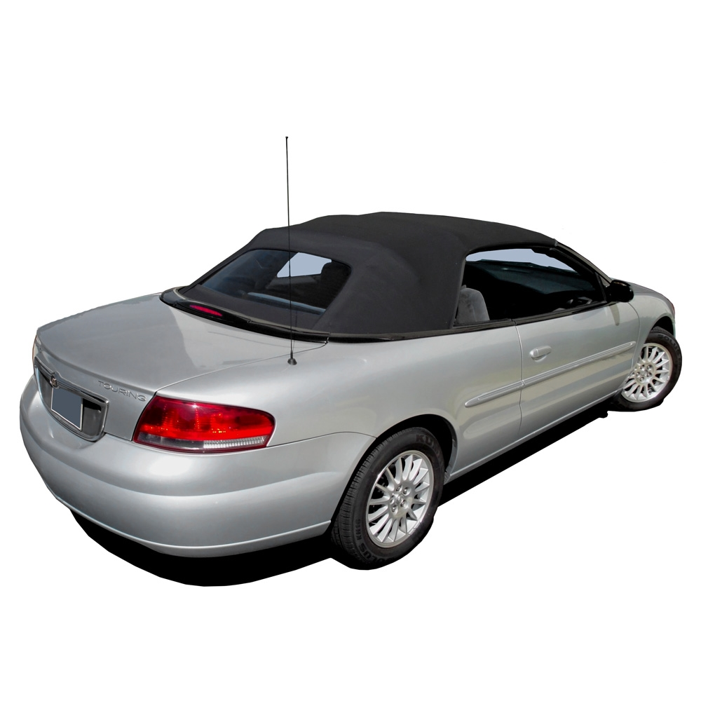 2001 2006 chrysler sebring convertible top 2 piece full top chrysler convertible top 2001 2006 sebring stratus sailcloth vinyl black