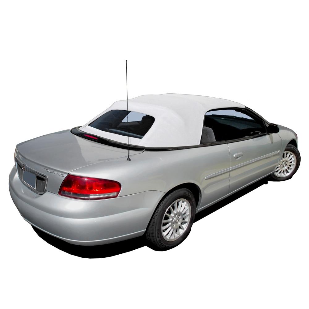 2001 2006 chrysler sebring convertible top replacement white vinyl chrysler convertible top 2001 2006 sebring stratus sailcloth vinyl white