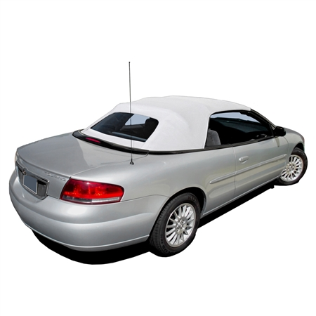 2001-2006 Chrysler Sebring Convertible Top Replacement - White Vinyl