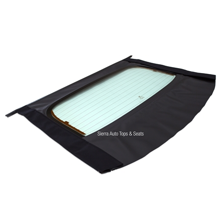 Chevy Cavalier & Sunfire Black Sailcloth Convertible Window Section