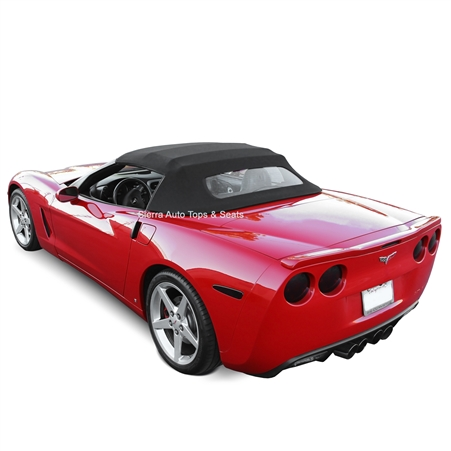 Black convertible soft top for Chevy Corvette 2005-2013