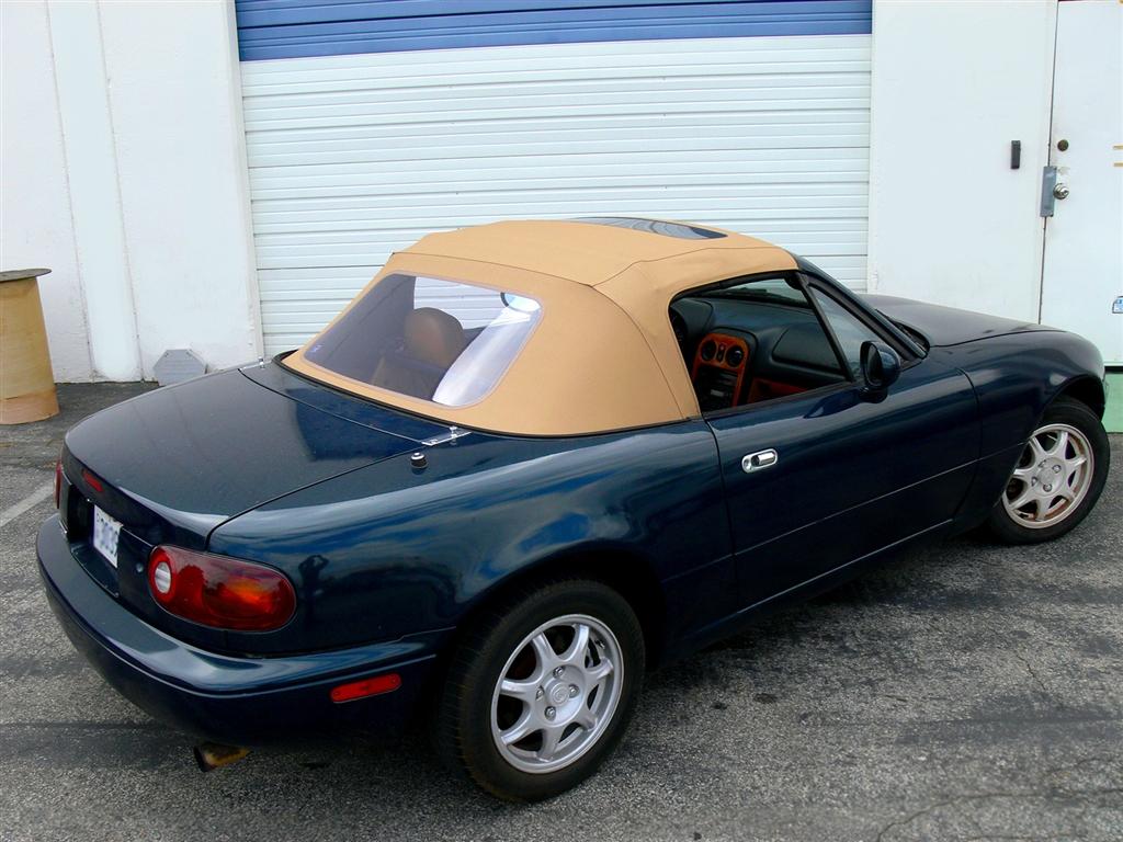 Miata 1990 1997 Convertible Top Black Cabrio Vinyl Plastic Window Sunroof
