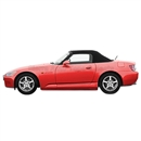 2000-2001 Honda S2000 Convertible Top - Black Cloth, Plastic Window