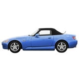 2000-2001 Honda S2000 Convertible Top - Black Vinyl, Glass Window