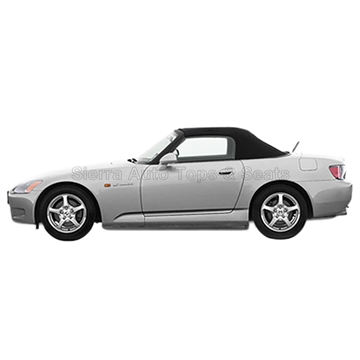 2000-2001 Honda S2000 Convertible Top - Black Vinyl, Plastic Window
