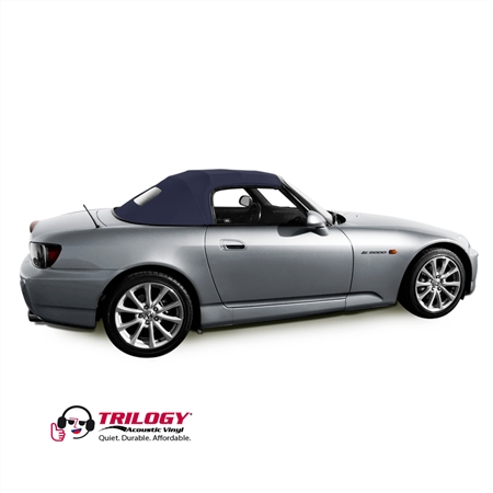 Honda S2000 Replacement Soft Convertible Top, Twill Grain Vinyl Blue | Auto Tops Direct