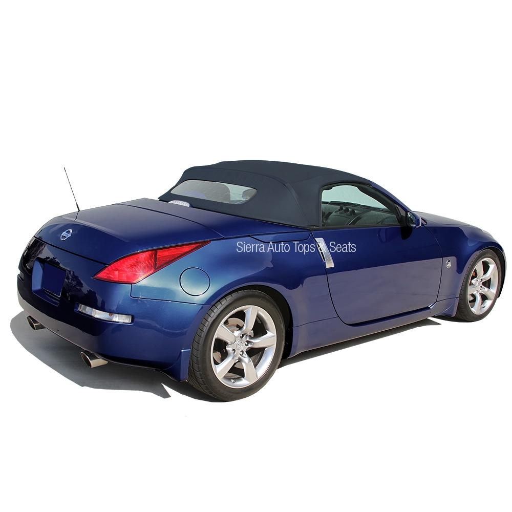 2004 2009 nissan 350z convertible top blue twill grain vinyl. Black Bedroom Furniture Sets. Home Design Ideas