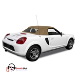 Replacement Toyota MR2 Saddle Convertible Top - Twill Grain Vinyl