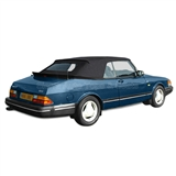 Saab 900 Convertible Top & Window - German Classic - Black