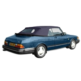 Saab 900 Convertible Top & Tinted Window - German Classic Cloth - Blue