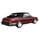 Saab 900 1986-94 Convertible Soft Top w/ Glass Window - Black