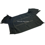 SAAB 900 Convertible Top 86-94 in Black Stayfast Cloth (Front Section Only)