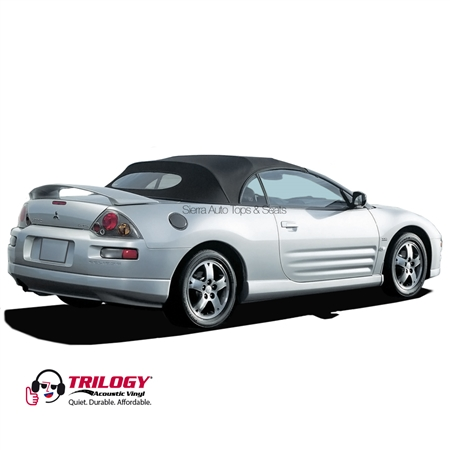 2000-2005 Mitsubishi Eclipse Vinyl Convertible Top Replacement - Black