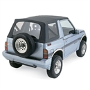 Suzuki Geo Tracker 1986-94 Convertible Top Replacement, Black Vinyl | Auto Tops Direct