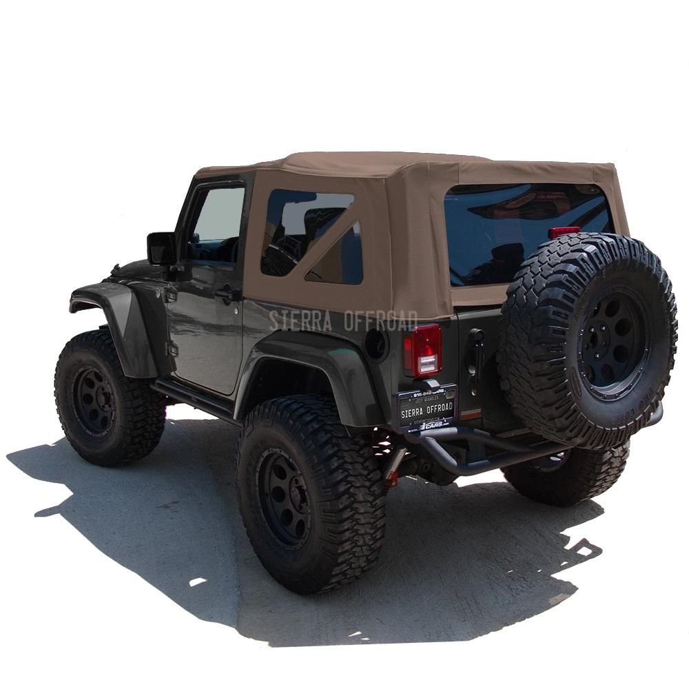 Best Top For Jeep: 2007-2009 Jeep Wrangler 2 Door JK Saddle Sailcloth Soft Top