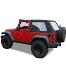 2007-2018 Jeep Wrangler Black Sailcloth Soft Convertible Top 2DR