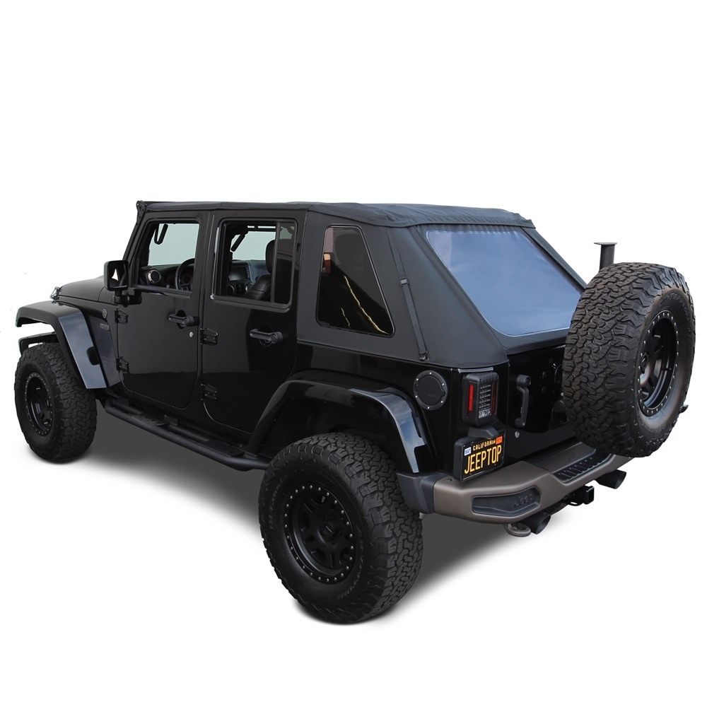 Jeep Wrangler Soft Top >> 2007 2018 Jeep Wrangler Black Sailcloth Soft Top