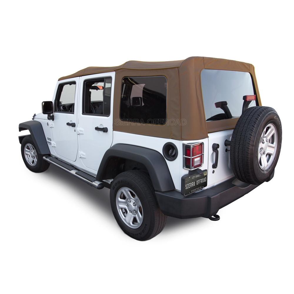 Jeep Wrangler Convertible Soft Top 2010-17 |Saddle Sailcloth