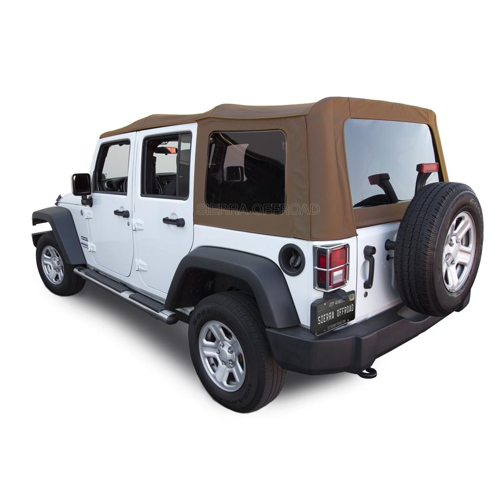 Soft Top Jeep >> Jeep Wrangler Convertible Soft Top 2010 18 Saddle Sailcloth