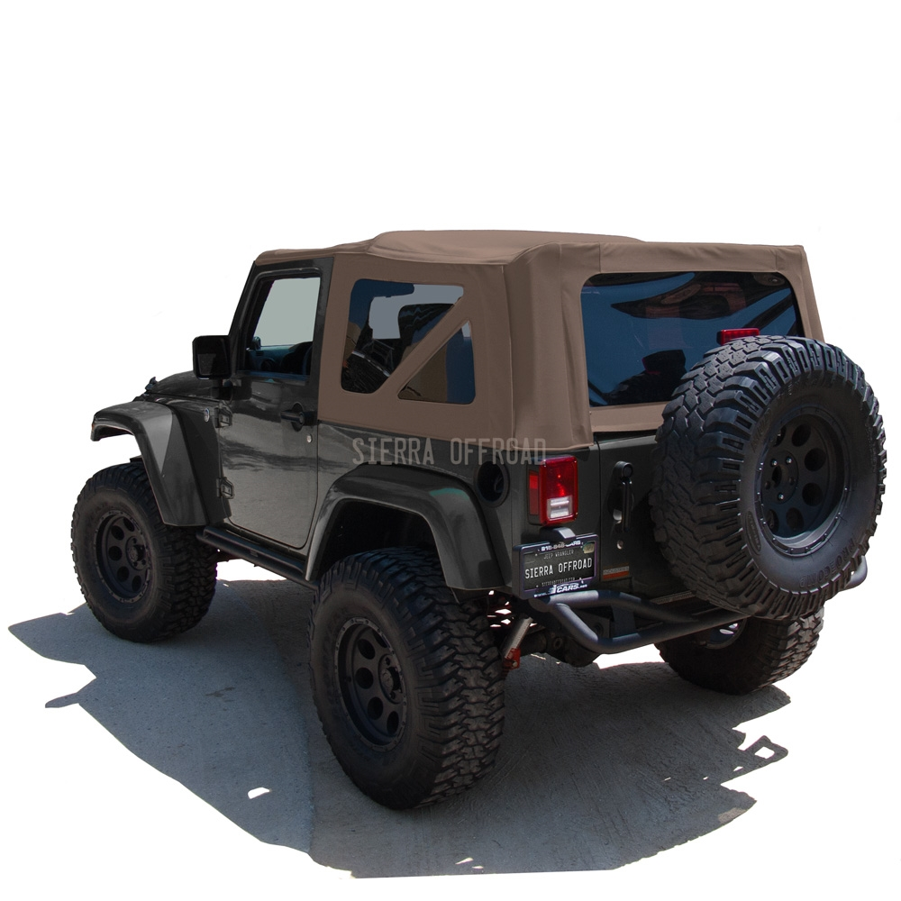 Jeep Wrangler Soft Top >> Sierra Offroad 2010 2018 Jeep Wrangler 2 Dr Jk Soft Top Saddle Sailcloth