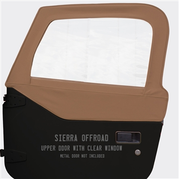 Sierra Offroad Soft Upper Doors for Jeep Wrangler - Saddle Brown