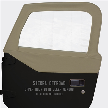 Sierra Offroad Upper Doors for Jeep Wrangler - Stone