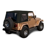 Jeep Wrangler Convertible Soft Top 1997-2002- Black Sailcloth