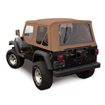 Sierra Offroad TJ Wrangler Soft Top & Upper Door Skins | Saddle Sailcloth