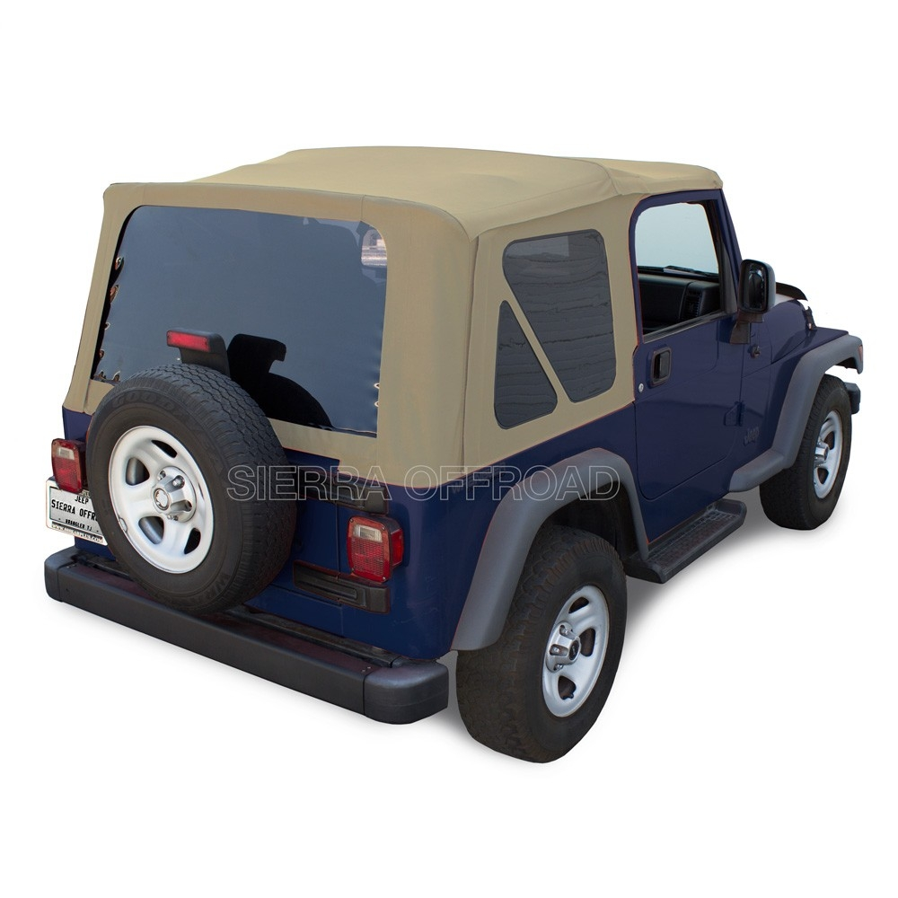 Sierra Offroad 1997 2002 TJ Wrangler Factory Style Soft Top With Tinted  Windows In Camel