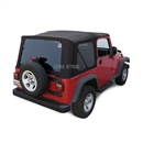 Sierra Offroad Jeep Wrangler TJ Soft Top 2003-06 in Black Twill w/Tinted Windows