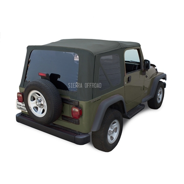 Sierra Offroad 2003-2006 TJ Wrangler Factory Style Soft Top with Tinted Windows in Khaki Diamond