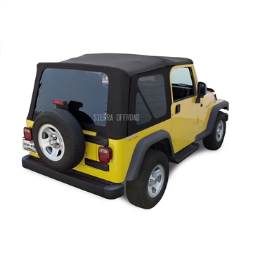 Replace Sierra Off-Road Soft Top | Black Sailcloth Jeep Top