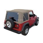 Sierra Offroad 2003-2006 TJ Wrangler Factory Style Soft Top, Tinted Windows, Parchment Sailcloth