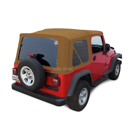 Sierra Offroad 2003-2006 TJ Wrangler Factory Style Soft Top with Tinted Windows in Spice Sailcloth