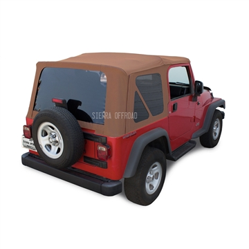 Jeep TJ Wrangler Soft Top & Tinted Windows | Saddle Vinyl