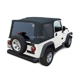 Sierra Offroad 2003-2006 TJ Wrangler Soft Top with Tinted Windows, Blue Trilogy Acoustic Vinyl