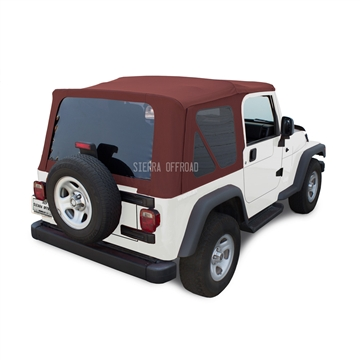 Sierra Offroad 2003-2006 TJ Wrangler Soft Top with Tinted Windows, Bordeaux Trilogy Acoustic Vinyl