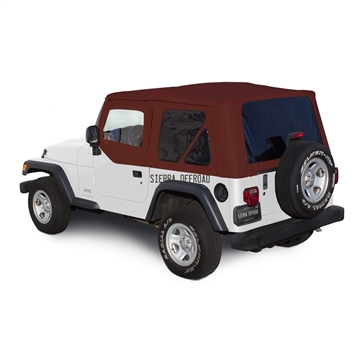Sierra Offroad 2003-2006 TJ Wrangler Soft Top, TInted Windows, Upper Doors Bordeaux Trilogy Acoustic Vinyl