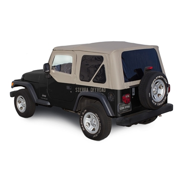 Sierra Offroad 2003-2006 TJ Wrangler Soft Top, TInted Windows, Upper Doors Stone Trilogy Acoustic Vinyl