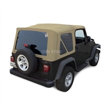 Sierra Offroad Jeep Wrangler TJ Soft Top 2003-06 in Camel Twill w/Tinted Windows