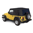 Sierra Offroad 2003-2006 TJ Wrangler Soft Top, TInted Windows, Upper Doors Black Trilogy Acoustic Vinyl