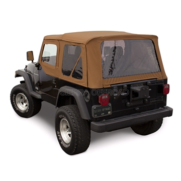 Sierra Offroad 1997-2002 TJ Wrangler Soft Top and Upper Door Skins, Tinted Windows in Spice